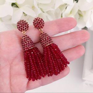 Baublebar Burgundy Red Mini Piñata Tassel Earrings